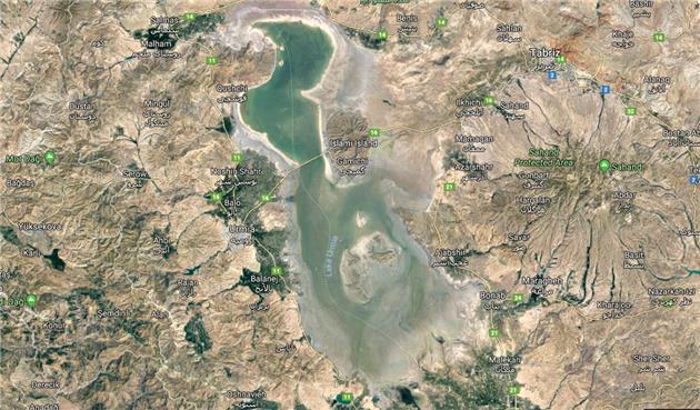 افزایش 37 سانتیمتری سطح تراز آب دریاچه ارومیه