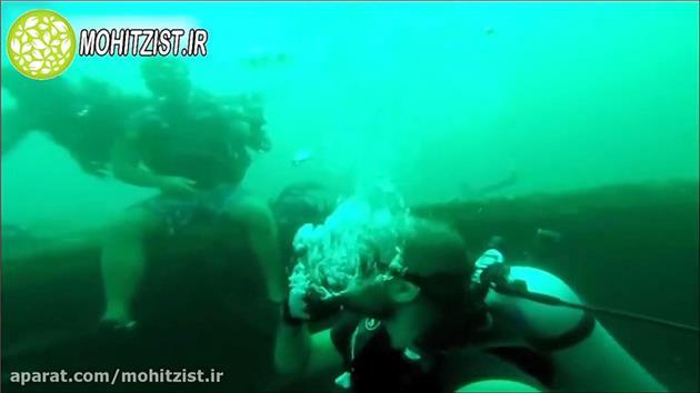غواصان ایرانی در جستجوی کشتیهای غرق شده در خلیج فارس