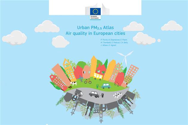 انتشار اطلس شهری ذرات معلق کمتر از 2.5 میکرون در اروپا + فایل اطلس