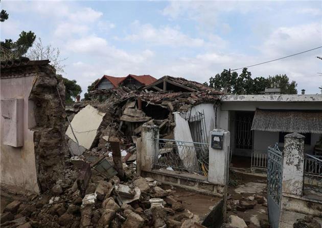 طوفان و سیلاب ویرانگر در یکی از جزایر یونان