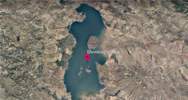 تصاویری تکان دهنده از خشک شدن دریاچه ارومیه طی ۳۷ سال گذشته